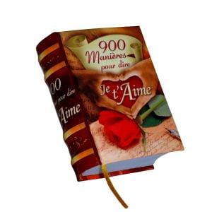 900 manieres pour dire aime miniature book libro