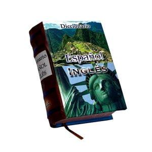 Diccionario Espanol Ingles miniature book libro