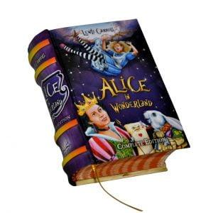 alice in wonderland miniature book libro