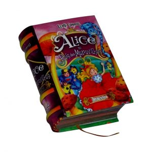 alice no pais das maravilhas ilustrado miniature book libro