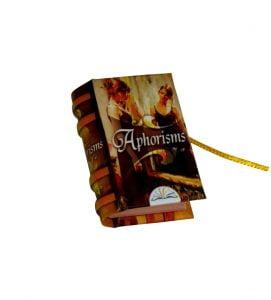 aphorisms miniature book libro