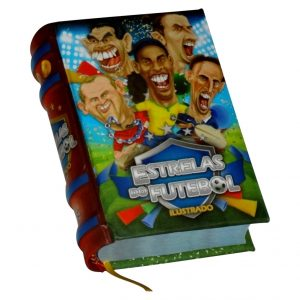 estrelas do futebol miniature book libro