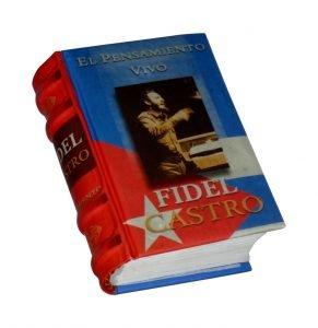 fidel castro miniature book libro